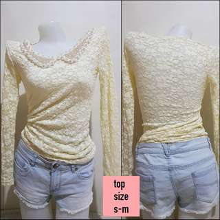 Longsleeve lace with collar