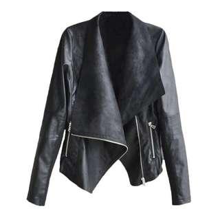 BNIP Black PU Leather Jacket