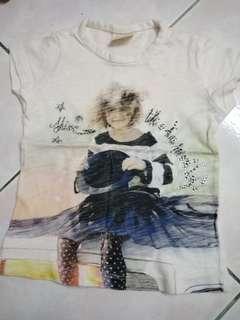 Preloved Zara Girls Tshirt