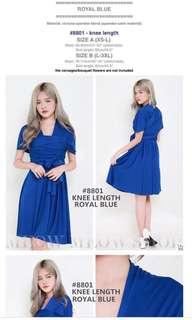 #buy2get1free Royal blue knee length convertible dress