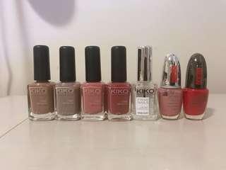 KIKO and Pupa nail polishes