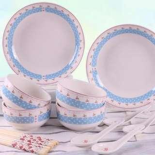 14pcs Ceramic Tableware Set