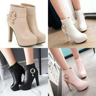 Fashion Lace Up High Heel Boost