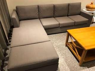 貓抓布 L型沙發