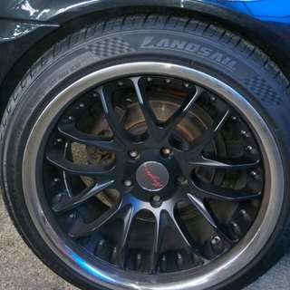 Breyton rims and tyre