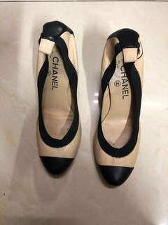 Chanel heels two tone shoes 高踭鞋
