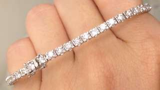 18k Natural Diamond Bracelet 天然鑽石手鍊