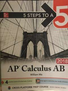 AP Calculus AB Prep book with online account for lessons!