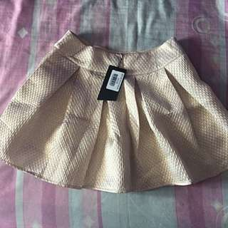 New with Tag! Flare Skirt (Rose Gold)