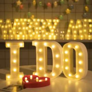 LED light birthday party room accessory letter J
