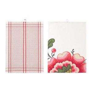 Ikea Inbjudande Dish Towel 2 Pack Flower Kitchen Hand Towel