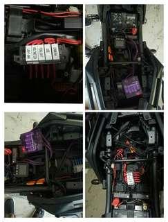 Cb400x fusebox and rewiring