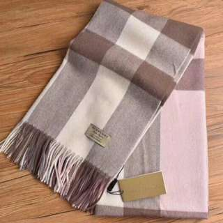 Burberry Wool Cashmere Scarf Pink v1