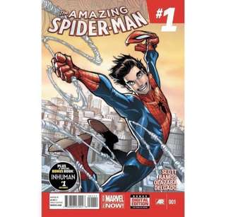 the AMAZING SPIDER-MAN (2014) Various Single Issues