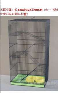 5 tier pet cage large