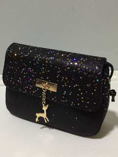 Sling Bag Small Black Sparkling