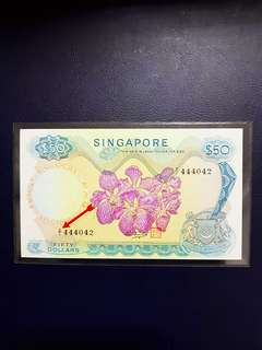 ⭐️Z1⭐️ shift error ⭐️orchid series fifty dollar replacement note