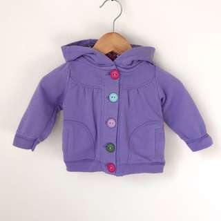 Cotton On baby Girls hooded jacket size 000