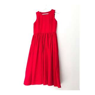 #Chlorineclothe midi red dress