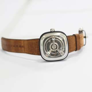 Seven Friday M2-2 M-Series Automatic Black Brown Leather Strap