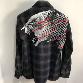 Marcelo Burlon Sham Grey Flannel Over Shirt