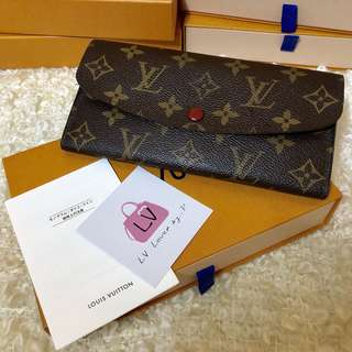 Pre Love Authentic LV Emilie Wallet DC.CA0131