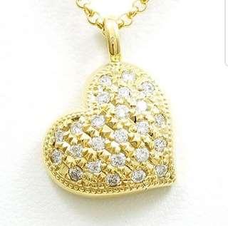 0.39 cts - 18k Diamond Heart Necklace