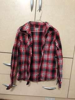 🚚 LEE紅格子襯衫