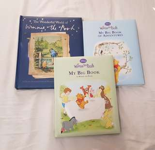 Winnie the pooh book bundle x3 In excellent condition