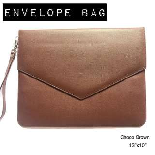 CHOCO BROWN ENVELOPE BAG #FREEDELIVERY