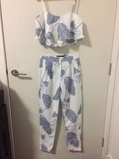Crop and pant co ord