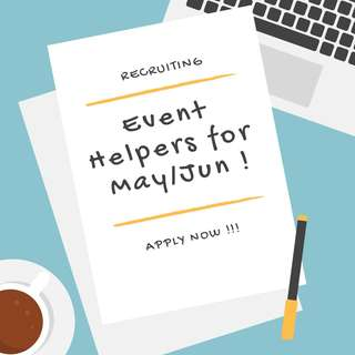 Hiring Event Helpers!