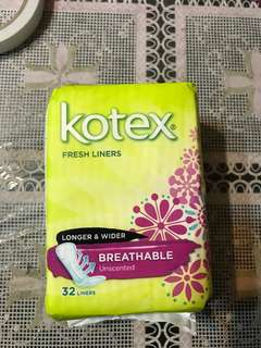 Brand New Kotex Breathable Unscented Kotex Fresh Liners