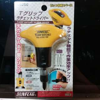 SUNFLAG T-grip Ratchet Screw Driver/PAT/MADE IN JAPAN/日本製