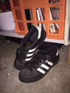 phresh black adidas superstars
