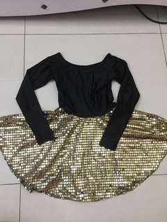 Ballerina dress(black and gold)