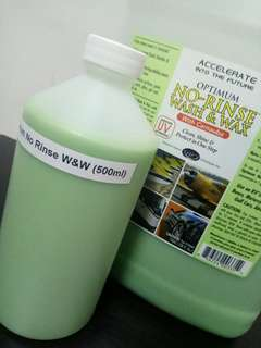 500ml CONCENTRATE  OPT   Optimum No Rinse Wash & Wax   in unlabelled refill bottle   (Z2T4SAVR2)