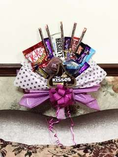 Bawal Aidijuma with chocolate suprise bouquet