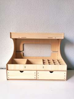 Wooden Cardboard Shelf Organiser