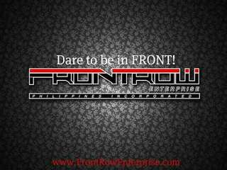 Dare To Be In Frontrow