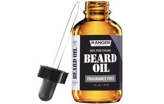 [IN-STOCK] Ranger Grooming Co by Leven Rose Fragrance Free Beard Oil & Leave In Conditioner , 100% Pure Natural for Groomed Beards , Mustaches , and Moisturized Skin 1 oz