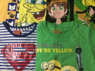 Character shirts for boys