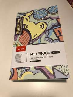 NEW Miniso Colorful Days Notebook