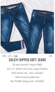 Soft ripped jeans size 27