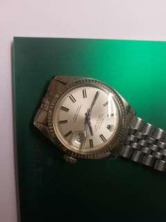 勞力士Rolex 1601 Dayjust 銀面銀釘