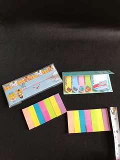 Bundled Assorted small Post-it notes/ post stick notes