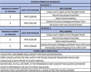 Puerto Princesa and Cebu Packages
