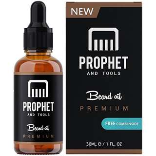 [IN-STOCK] Prophet and Tools Unscented Beard Oil and Comb Gift Kit FOR MEN! The All-In-One Conditioner, Softener, Shine and Faster Beard Growth - No Alcohol, Vegan and Nuts-Free