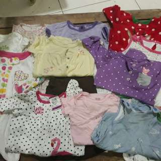 Preloved Baby Girl Onesies 0- 12months