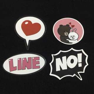 Medium Line Friends Stickers